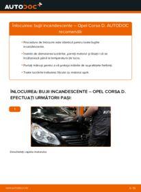 Cum să efectuați înlocuirea: Bujie incandescenta la 1.3 CDTI (L08, L68) Opel Corsa D