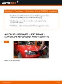 Wie der Wechsel durchführt wird: Domlager 1.9 TDI Seat Ibiza 6L1 tauschen