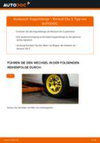 Wie Getriebehalter RENAULT CLIO tauschen und einstellen: PDF-Tutorial