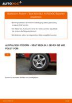 SEAT Schraubenfeder hinten links rechts wechseln - Online-Handbuch PDF