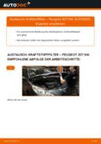 Wie Peugeot 307 SW Kraftstofffilter wechseln - Anleitung