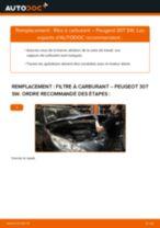 Comment changer : filtre à carburant sur Peugeot 307 SW - Guide de remplacement