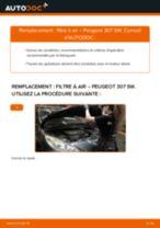 Filtre à air PEUGEOT 307 SW (3H) | PDF tutoriel de remplacement