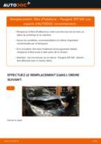 Comment changer : filtre d'habitacle sur Peugeot 307 SW - Guide de remplacement
