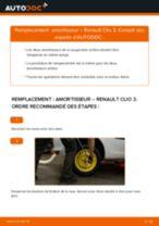 PDF manuel de remplacement: Amortisseur RENAULT Clio III 3/5 portes (BR0/1, CR0/1) arrière + avant