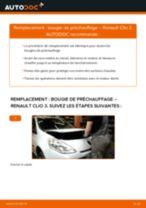 Bougie de préchauffage RENAULT Clio III 3/5 portes (BR0/1, CR0/1) | PDF tutoriel de remplacement