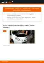 Notre guide PDF gratuit vous aidera à résoudre vos problèmes de RENAULT Renault Clio 2 1.2 16V Filtre à Air