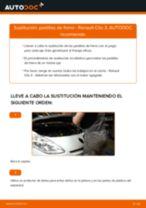 Tutorial paso a paso en PDF sobre el cambio de Pastillas De Freno en RENAULT CLIO III (BR0/1, CR0/1)