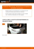 Instalación Filtro de aire motor RENAULT CLIO III (BR0/1, CR0/1) - tutorial paso a paso