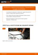 Cambiare Supporto Ammortizzatore RENAULT CLIO: manuale tecnico d'officina