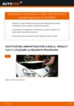 Come cambiare ammortizzatore a molla della parte anteriore su Renault Clio 3 - Guida alla sostituzione