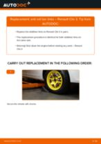 PDF replacement tutorial: Sway bar links RENAULT Clio III Hatchback (BR0/1, CR0/1) rear and front