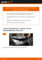 Byta bromsskivor bak på Peugeot 307 SW – utbytesguide