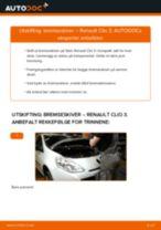 PDF med trinn for trinn-veiledning for bytte av RENAULT CLIO III (BR0/1, CR0/1) Bremseskiver