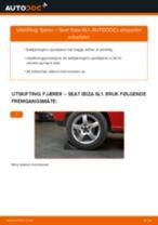 Hvordan bytte og justere Håndbrekksko SEAT IBIZA: pdf håndbøker