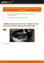 PDF návod na výměnu: Vzduchovy filtr PEUGEOT 307 SW (3H)