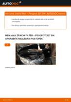 Zracni filter PEUGEOT 307 SW (3H) | PDF vodič za zamenjavo