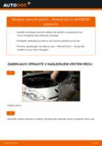 Kako zamenjati avtodel zavorne ploščice spredaj na avtu Renault Clio 3 – vodnik menjave