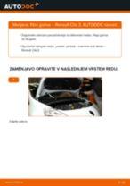 Kako zamenjati avtodel filter goriva na avtu Renault Clio 3 – vodnik menjave