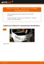 PDF priročnik za zamenjavo: Zracni filter RENAULT Clio III Hatchback (BR0/1, CR0/1)