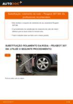 Tutorial passo a passo em PDF sobre a substituição de Rolamento da Roda no PEUGEOT 307 SW (3H)
