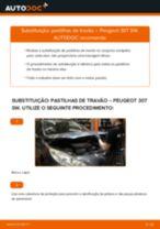 Tutorial passo a passo em PDF sobre a substituição de Pastilhas De Travão no PEUGEOT 307 SW (3H)