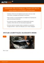 Manual DIY sobre como substituir o Filtro do Habitáculo no PEUGEOT 307