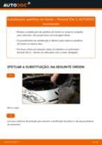Tutorial passo a passo em PDF sobre a substituição de Pastilhas De Travão no RENAULT CLIO III (BR0/1, CR0/1)