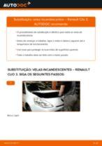 Como mudar velas incandescentes em Renault Clio 3 - guia de substituição