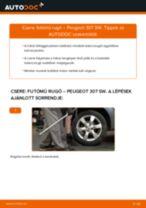 Hátsó futómű rugó-csere Peugeot 307 SW gépkocsin – Útmutató