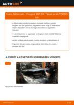 Elülső féktárcsák-csere Peugeot 307 SW gépkocsin – Útmutató