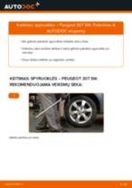 Kaip pakeisti Peugeot 307 SW spyruoklės: galas - keitimo instrukcija