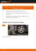Kaip pakeisti Peugeot 307 SW amortizatorių: galas - keitimo instrukcija