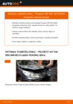 Kaip pakeisti Peugeot 307 SW stabdžių diskų: galas - keitimo instrukcija