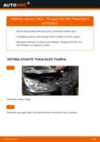 Kaip pakeisti Peugeot 307 SW variklio alyvos ir alyvos filtra - keitimo instrukcija