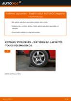 Kaip pakeisti Seat Ibiza 6L1 spyruoklės: galas - keitimo instrukcija