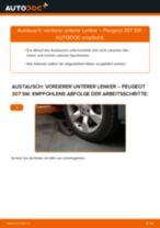 Wie Peugeot 307 SW vorderer unterer Lenker wechseln - Anleitung