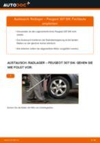 Wie Peugeot 307 SW Radlager hinten wechseln - Anleitung