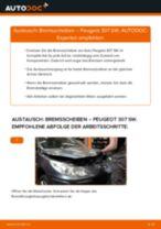 Wie Peugeot 307 SW Bremsscheiben hinten wechseln - Anleitung