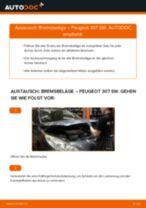 Wie Peugeot 307 SW Bremsbeläge vorne wechseln - Anleitung