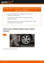 PDF manuel de remplacement: Amortisseur PEUGEOT 307 SW (3H) arrière + avant