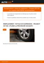 Comment changer : rotule de suspension avant sur Peugeot 307 SW - Guide de remplacement