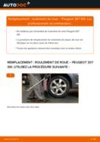 Comment changer : roulement de roue arrière sur Peugeot 307 SW - Guide de remplacement
