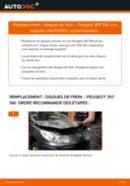 Remplacement Disque PEUGEOT 307 : pdf gratuit