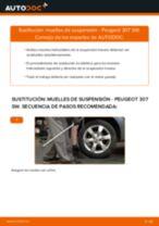 Cómo cambiar: muelles de suspensión de la parte trasera - Peugeot 307 SW | Guía de sustitución