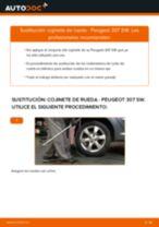 Cambiar Cable De Freno De Mano PEUGEOT 307: manual de taller