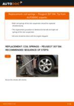 Replacing Coil spring PEUGEOT 307: free pdf