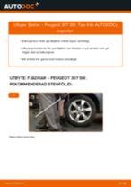 Byta fjädrar bak på Peugeot 307 SW – utbytesguide