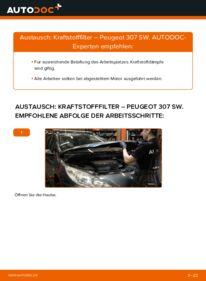 Wie der Wechsel durchführt wird: Kraftstofffilter 1.6 HDI 110 Peugeot 307 SW tauschen