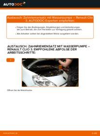 Wie der Wechsel durchführt wird: Wasserpumpe + Zahnriemensatz 1.5 dCi Renault Clio 3 tauschen